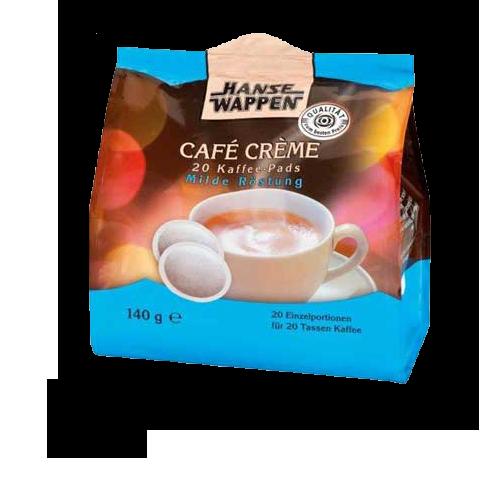 Hansewappen Cafe Creme Mild Pads