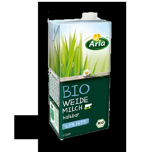 Arla haltbare Bio Weidemilch 1,5% Fett 1Liter