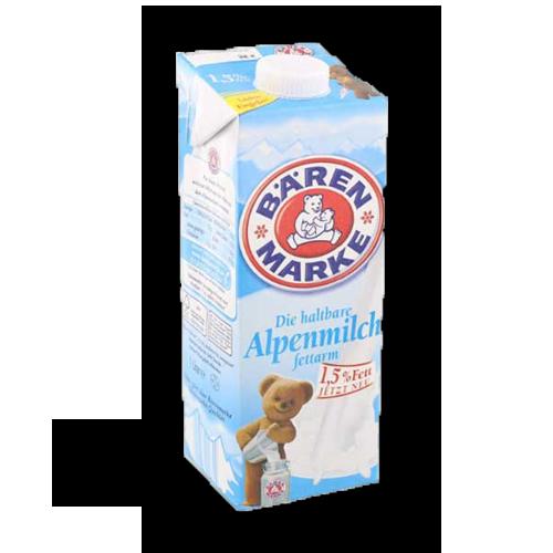 Bärenmarke fettarme-haltbare Alpenmilch 1Liter