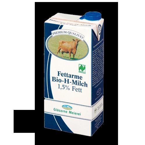 Gläserne Meierei fettarme Bio H-Milch 1Liter
