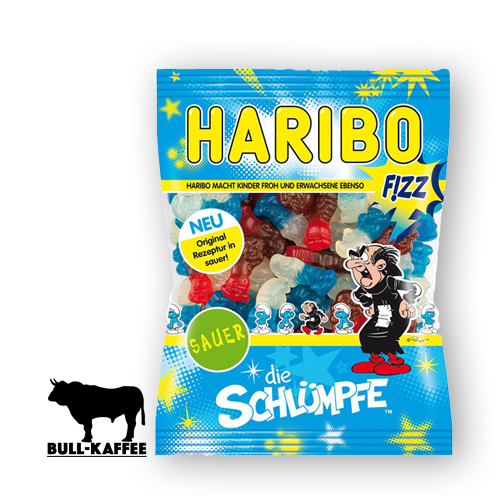 HARIBO Die Schlümpfe Sauer FIZZ 200g