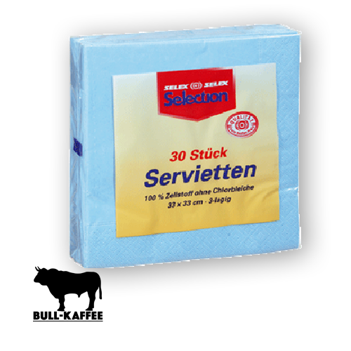 Servietten Selection hellblau 30Stk.