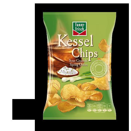 funny-frisch Kessel Chips - Sour Cream & Spring Onion 120g