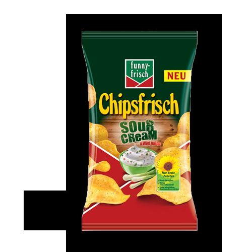 funny-frisch Chipsfrisch - Sour Cream & Wild Onions 175g