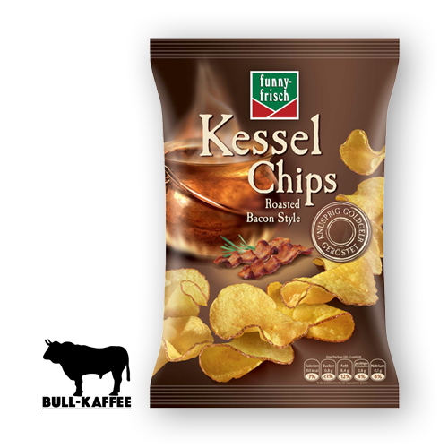 funny-frisch Kessel Chips - Roasted Bacon Style 120g