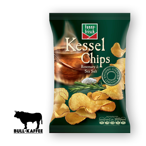 funny-frisch Kessel Chips - Rosemary & Sea Salt 120g